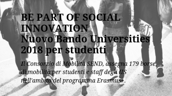 BE PART OF SOCIAL INNOVATION: Nuovo Bando Universities 2018 per studenti